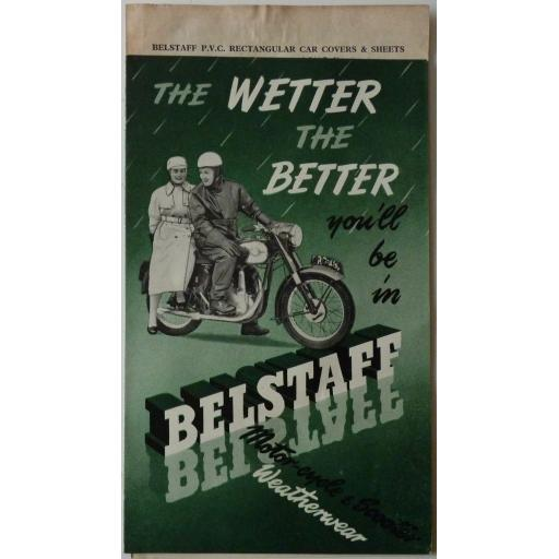 Belstaff Motorcyle and Scooter Weatherwear Sales Brochure - circa 1950s