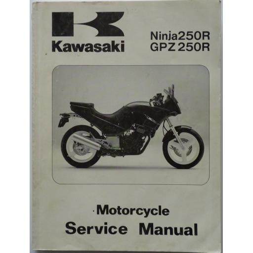 Kawasaki Ninja 250R and GPZ250R Motorcycle Service Manual 1986-87