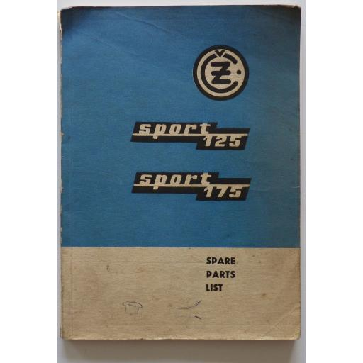 CZ Jawa Sport 125 and Sport 175 Spare Parts List - 1971