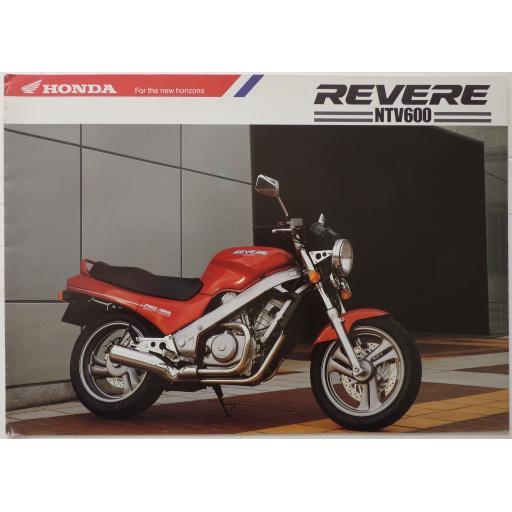 Honda Revere NTV600 6 page Sales Brochure