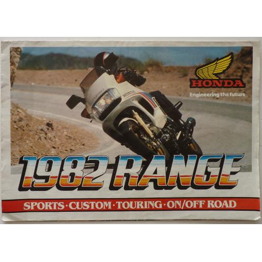 Honda 1982 Range Sports Custom Touring On/Off Road Sales Brochure/Prospectus