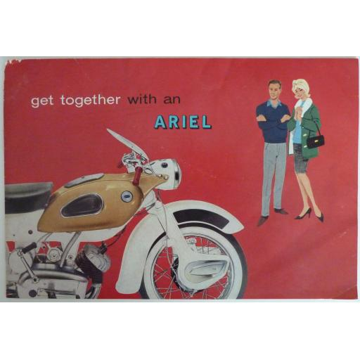 Ariel Leader and Arrow Motorcycle Sales Brochure - 1962
