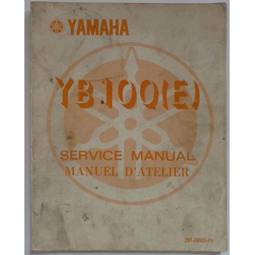 Genuine Yamaha YB100(E) Service Manual - English and French Language