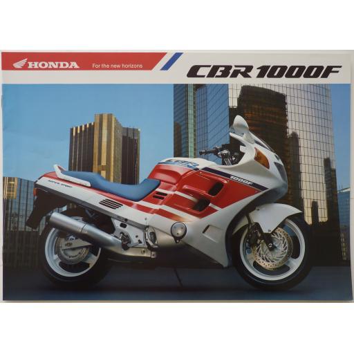 Honda CBR1000F Sales Brochure - 1988-90?