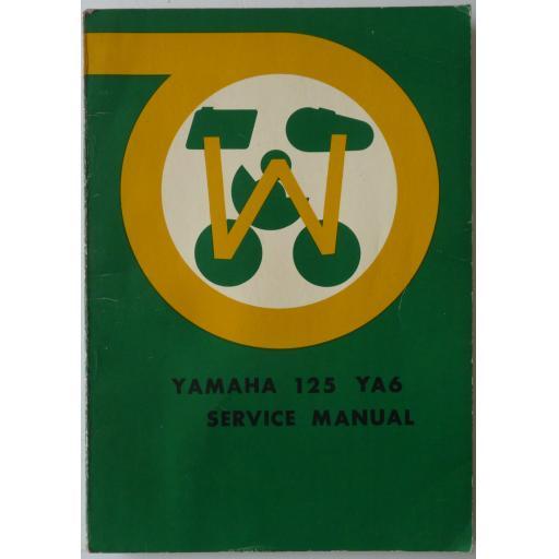 Yamaha 125cc YG6 Service Manual - circa 1965