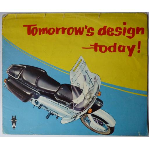 Ariel Leader & Arrow Motorcycle Vintage Sales Brochure Tomorrow's Design Today!