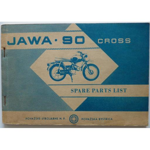 Jawa 90 SK Cross - Roadster Spare Parts List - 1969