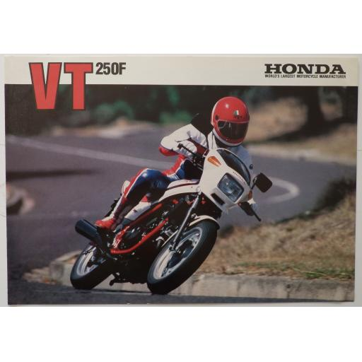 Honda VT250F Vee Twin Sales Brochure - 1983