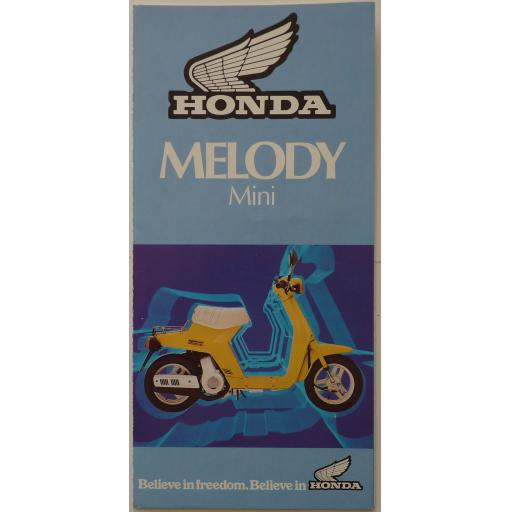 Honda NP50 Melody Mini Sales Brochure - 1983