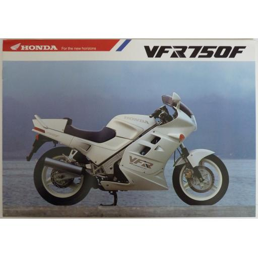 Honda VFR750F Sales Brochure (E Type) - 1985