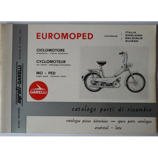 Garelli Euromoped - Single Speed Automatic Clutch Spare Parts List