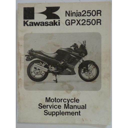 Kawasaki Ninja 250R and GPX250R Motorcycle Service Manual Supplement - 1988