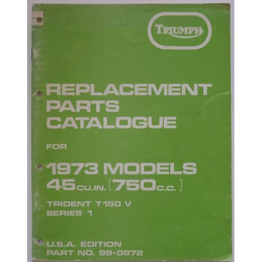 Triumph Trident T150V Series 1 Replacement Parts Catalogue - USA Edition
