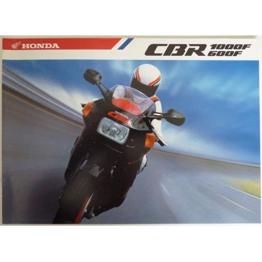 Honda CBR 1000F CBR 6000F Sales Brochure - late 1980s