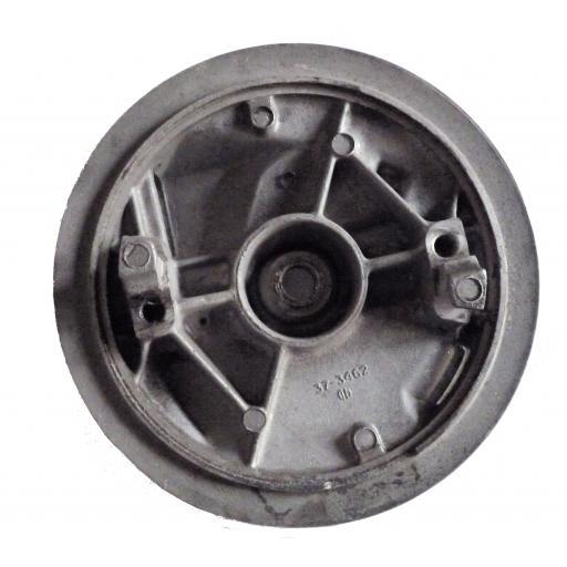 Twin leading shoe brake plate NOS 02.jpg